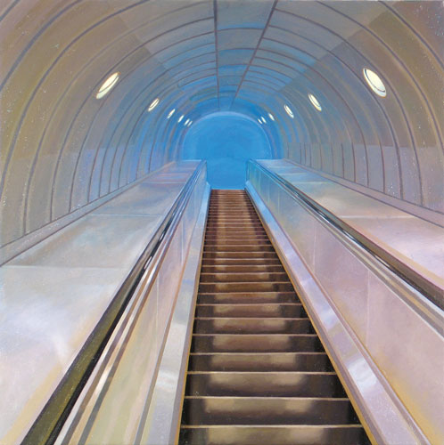 image of painting Escalator